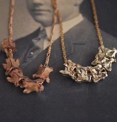 Vertebrae Necklaces from Erica Weiner  http://ericaweiner.com/collections/necklaces-view-all/products/vertebrae-necklace#