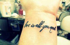 beatles tattoos | beatles, runawaylove.blogg.no, tattoo, text, typography - inspiring ...