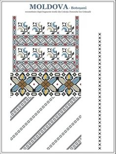 blouse from north-east Romania Folk Embroidery, Embroidery Patterns, Cross Stitch Patterns, Knitting Patterns, Palestinian Embroidery, Moldova, New Hobbies, Cross Stitching, Beading Patterns