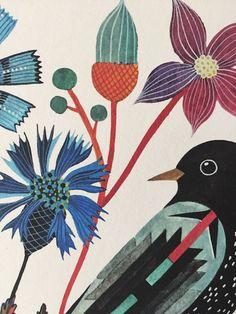 Blackbird by Geninne on Etsy
