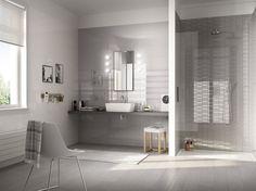 Walling with Ceramic Tiles Bathroom Layout, Modern Bathroom, Bathroom Wall Coverings, Beautiful Modern Homes, Ceramic Wall Tiles, Stone Tiles, Glass Design, Amazing Bathrooms, My Dream Home