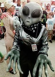 Roswell UFO Festival, New Mexico - USA - July. Parades, fancy dress competitions and a general celebration of all things alien!