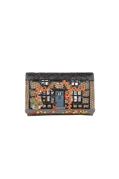 7453268843150 The Vendula London Winter Cottage Medium Fit-all Wallet features faux snake  pu with a