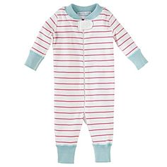 Hanna Andersson Baby Sleeper – Strawberry Stripe #serenaandlily I want this.  Boy or girl!