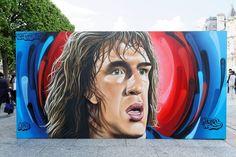 In Pics Football Legends In Graffiti Euro
