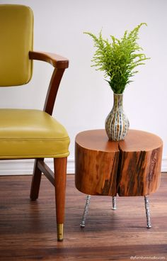 The wood for stump tables is affordable (usually free!). In this post I'll show you some low-cost, easy-to-make DIY furniture leg options for your stump table. Of course, the legs can be used in other furniture projects, too!    I don't have that much carpentry experience, an
