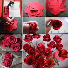 These Swirled Paper Roses are So Easy and Creative - http://www.amazinginteriordesign.com/swirled-paper-roses-easy-creative/