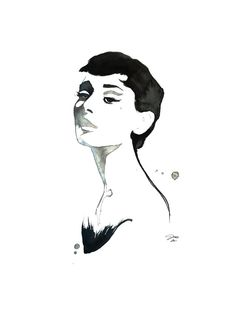Items similar to Original Watercolor Painting Fashion Illustration - Audrey in Watercolor on Etsy Audrey Hepburn Tattoo, Audrey Hepburn Kunst, Audrey Hepburn Painting, Art And Illustration, Watercolor Illustration, Watercolor Paintings, Acrylic Paintings, Watercolours, Megan Hess