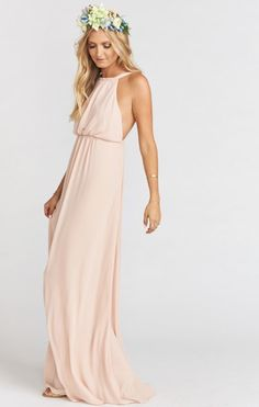 Amanda Maxi Dress ~ Dusty Blush Crisp | Show Me Your MuMu Bridesmaid Dress