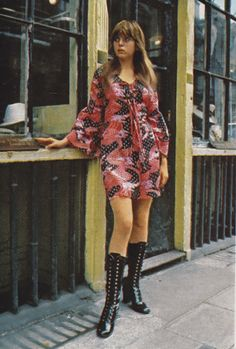 Printed cotton voile mini dress ( from Bus Stop)