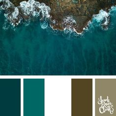 Color Teal waves // These 25 color combinations are inspired by beautiful scenes underwater. Colour Pallette, Colour Schemes, Teal Paint, Beautiful Color Combinations, Paint Color Combinations, Ocean Colors, Color Balance, Color Stories, Pantone Color