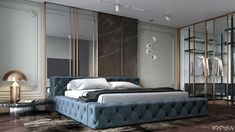 Top Home Luxury Interior designers les plus . Bedroom Bed Design, Modern Bedroom Design, Home Bedroom, Room Decor Bedroom, Luxury Home Decor, Luxury Interior, Luxury Apartments, Luxury Homes, Bachelor Bedroom