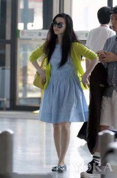 Bing bing fan! Like her dress!
