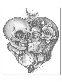 """True Love"" Print by Inked #InkedShop #InkedMag #True #Love #Print"