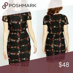"""COMING SOON! Floral Patterned Overlayed Dress - 100% Polyester  - L: 35"""" (Shoulder To Hem)  - US 2 UK 6  - Model Wears Size 8  - Lined  ? Dresses"""