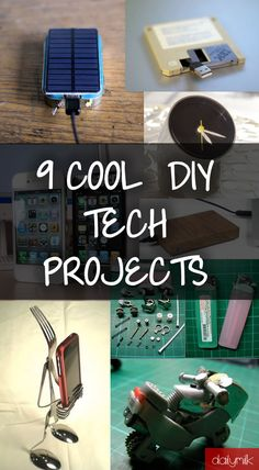 9 Cool DIY Tech Projects to Impress Your Friends DIY Tech Do It Yourself upcycle recycle how to craft crafts instructable gadgets  fashion