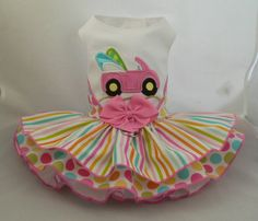 Items similar to Dog dress. Beach Buggy by Poshdog. Applique on Etsy Yorkie Clothes, Pet Clothes, Sewing Doll Clothes, Sewing Dolls, Dress Beach, Beach Dresses, My Little Girl, Little Dogs, Dog Closet