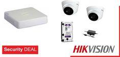 2 κάμερες παρακολούθησης HIKVISION DS-2CE56D0T-IT3F τύπου DOME εσωτερικού/εξωτερικού χώρου  Καταγραφικό HIKVISION DS-7104HGHI-F1 4 εισόδων βίντεο και 1 είσοδο ήχου  Τροφοδοτικό καμερών PULSAR  Σκληρό δίσκο WD 1 Tb χωρητικότητας Electronics, Consumer Electronics