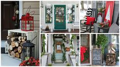 awesome 10 Christmas Porch Decor Ideas and Inspiration  #christmas #Decoration #Outdoor #porch #Pots #Tree #Wreath It's that time of the year again to get started decorating your front porch and front door for Christmas, welcoming your guests into your home.There...