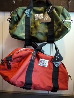 Poler Stuff from Portland Oregon is a small company dedicated to bringing camp vibes to the world. These mini duffel bags are great for bike rides and short hikes. Complete with 2 velco straps that can attach a skateboard to the bottom. #camping #summer #Tamworth #Lyceum