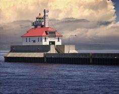 Lake Superior lighthouse in Duluth. Siempre hay un faro que te guia e indica el camino a seguir, no lo pierdas nunca.