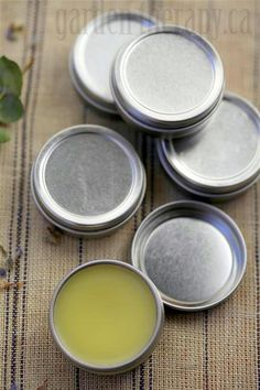 Healing Cuticle Balm by gardentherapy.ca: This soothing balm is packed with a herbal blend that will mend those cracks and make hands soft again. #DIY #Cuticle_Balm