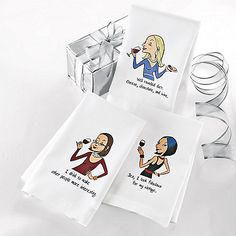 Party Girl Dish Towels (Set of 3) at Wine Enthusiast - $29.95