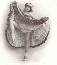 1920's Can Can dancer at the Moulin Rouge, Paris, France
