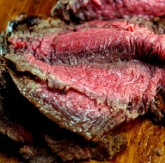 Spicy (or not) Asian Marinated Flank Steak and how to make flank steak as tender as filet mignon! It melts in your mouth!
