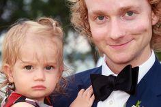 Best Man Scott Allin with Baby Rosa
