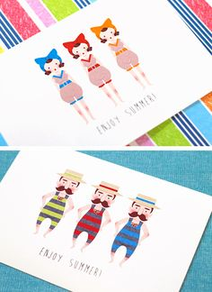 postcards : swimmer
