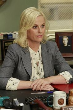 Leslie Knope! Anchor blouse.... I'm obsessed with this shirt