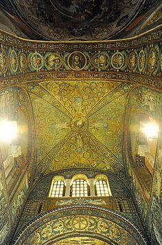 "Basilica of San Vitale - ""The exquisite Ravenna mosaics"" by @Kathryn Whiteside Burrington"