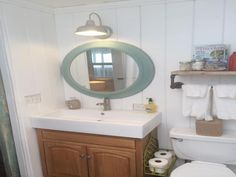 beach cottage mobile home bathroom