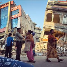 Two buildings that collapsed in yesterday's earthquake in Nepal, Gongabu area of Kathmandu. Thankfully no one was inside [by Vlad Sokhin]