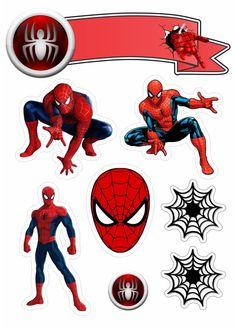 Topo de Bolo Homem aranha para editar e Imprimir Grátis - Mimo Kids