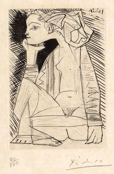 Femme assise en tailleur, 1951 Pablo Picasso