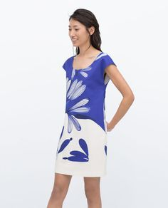 PRINTED DRESS-View all-Dresses-WOMAN   ZARA United States