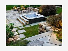 hot tub landscaping ideas photos | Home and Garden Design Idea's | Idea | Backyard Design With A Hot Tub