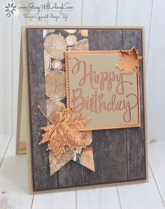 Stampin' Up! Stylized Birthday Masculine Card – Stamp With Amy K - Stamping Stuff - Stampin' Up! Stylized Birthday Masculine Card – Stamp With Amy K - Stamping Stuff - Cool Birthday Cards, Masculine Birthday Cards, Masculine Cards, Female Birthday Cards, Leaf Cards, Some Cards, Thanksgiving Cards, Fall Cards, Paper Cards