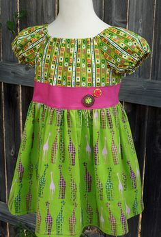 Giraffe Peasant Top by fluffygirlboutique on Etsy, $36.99