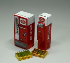 Soft drink vending machine.1/25scale