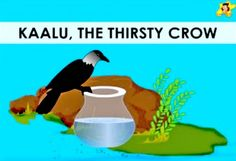 Learn how the thirsty crow solved its problem. A moral story in English for children, with pictures. Stories With Moral Lessons, English Moral Stories, Moral Stories In Hindi, English Stories For Kids, Moral Stories For Kids, Short Stories For Kids, English Story, Kids English, Kids Story Books