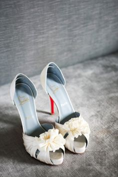 ivory Loubs #shoelove Photography by christianothstudio.com  Read more - http://www.stylemepretty.com/2013/09/12/half-moon-bay-wedding-from-christian-oth-studio-lyndsey-hamilton-events/