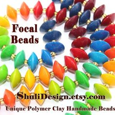 Unique Handmade Ombre Lentil Beads- can be used for many applications like necklaces, earrings, bracelets and where ever your imagination takes you