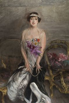 A work from Giovani Boldini - Madame Michelham - such elegance of brush!