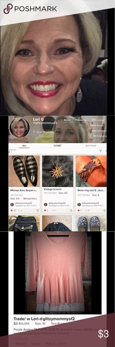 *SCAMMER* ALERT glitzymommyof2 rip-off ARTIST! 😡 #####SCAMMER#### on TRADE  .ALERT re: glitzymommyof2 SEE PHOTOS OF MY TRADE side for various things but first her KATE SPADE coat; which she couldn't find. 🙄🤥Excuse after excuse! Time to EXPOSE her! Do not BUY or ESPECIALLY TRADE with her! $148 plus shipping! check the dates! Tory Burch Shoes Flats & Loafers