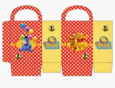 Winnie the Pooh: Free Printable Candy Paper Bag.
