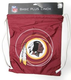 Washington Redskins Drawstring NFL Cinch Backpack by Little Earth. $5.49. Support your favorite team with this great cinch sack / backpack