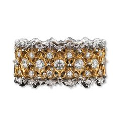 Buccellati Pizzo Venezia Ring. Instyle.com. #diamonds #ring #gold #sparkle